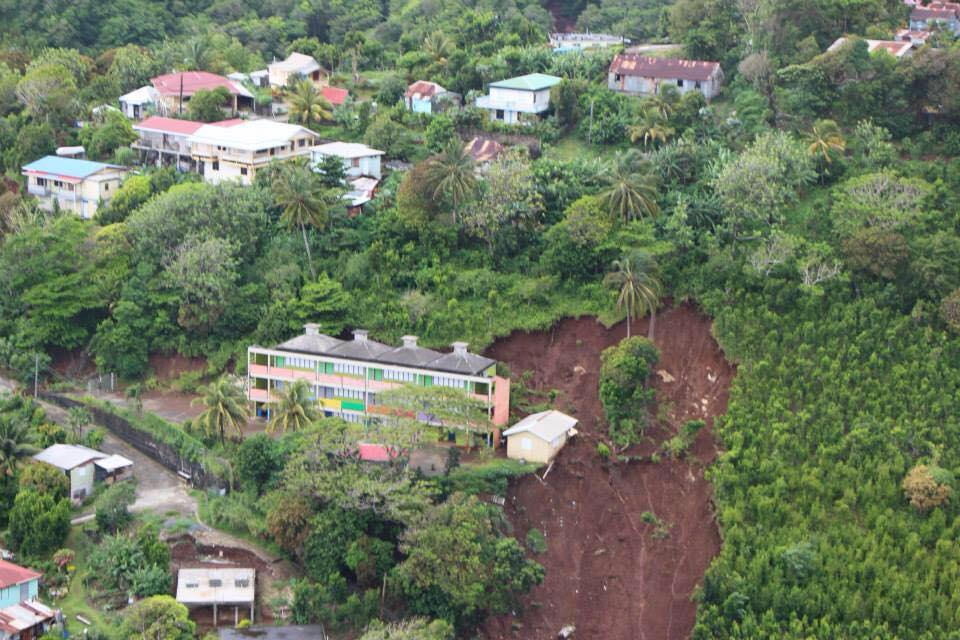 Dominica after the Devastation of Tropical Storm Erika