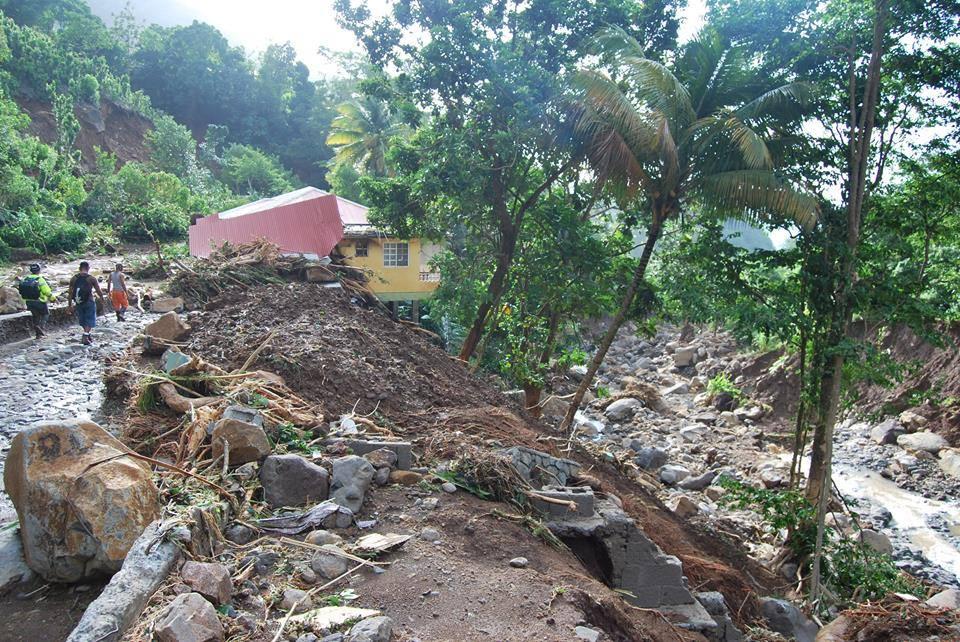 Mudslide after Tropical Storm Erika