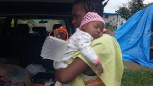 Baby receiving solar light